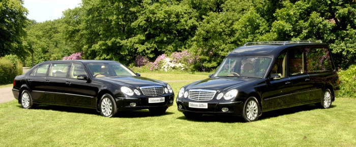 E class traditional merc and hearse