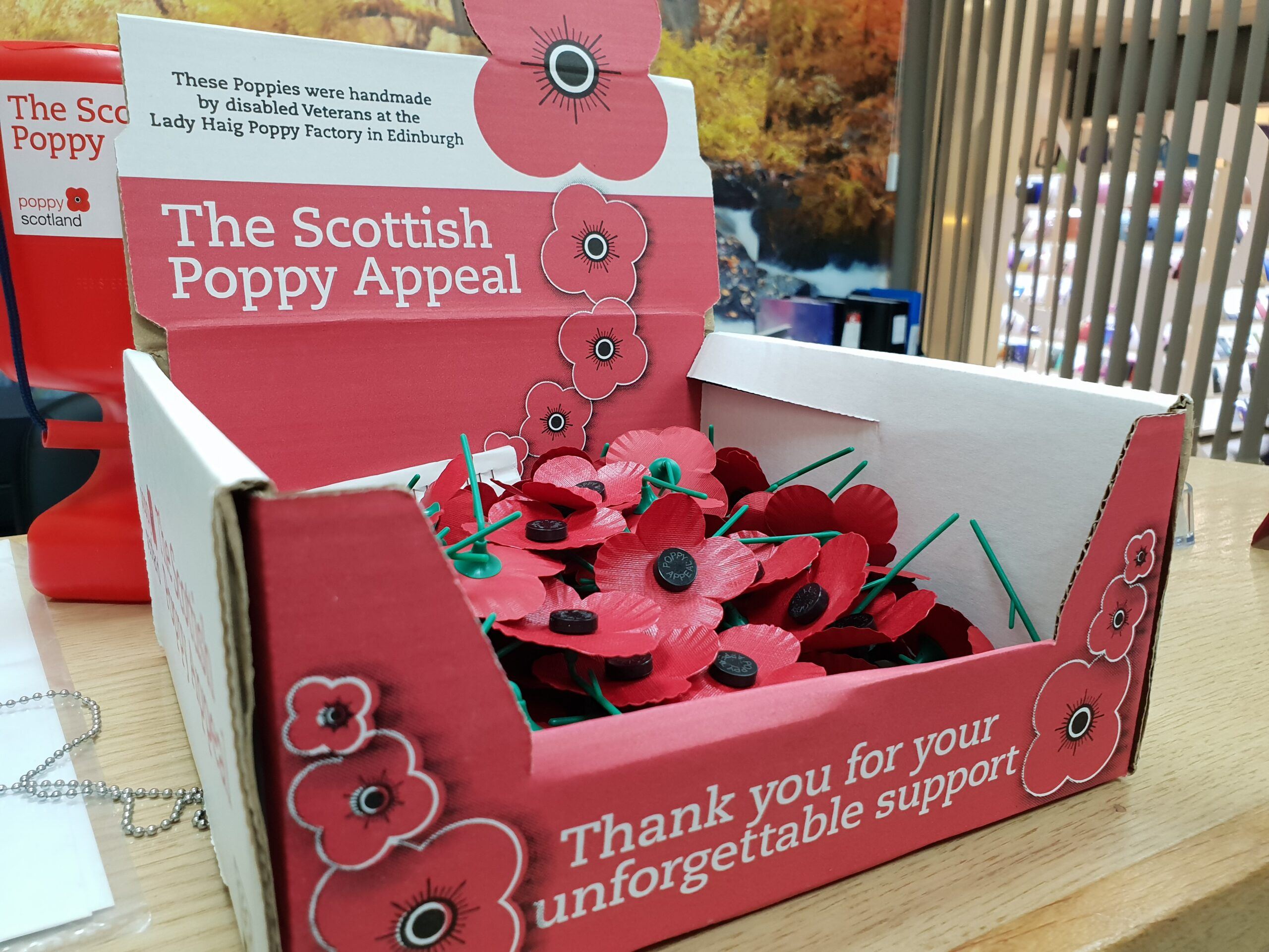 Supporting the scottish poppy appeal