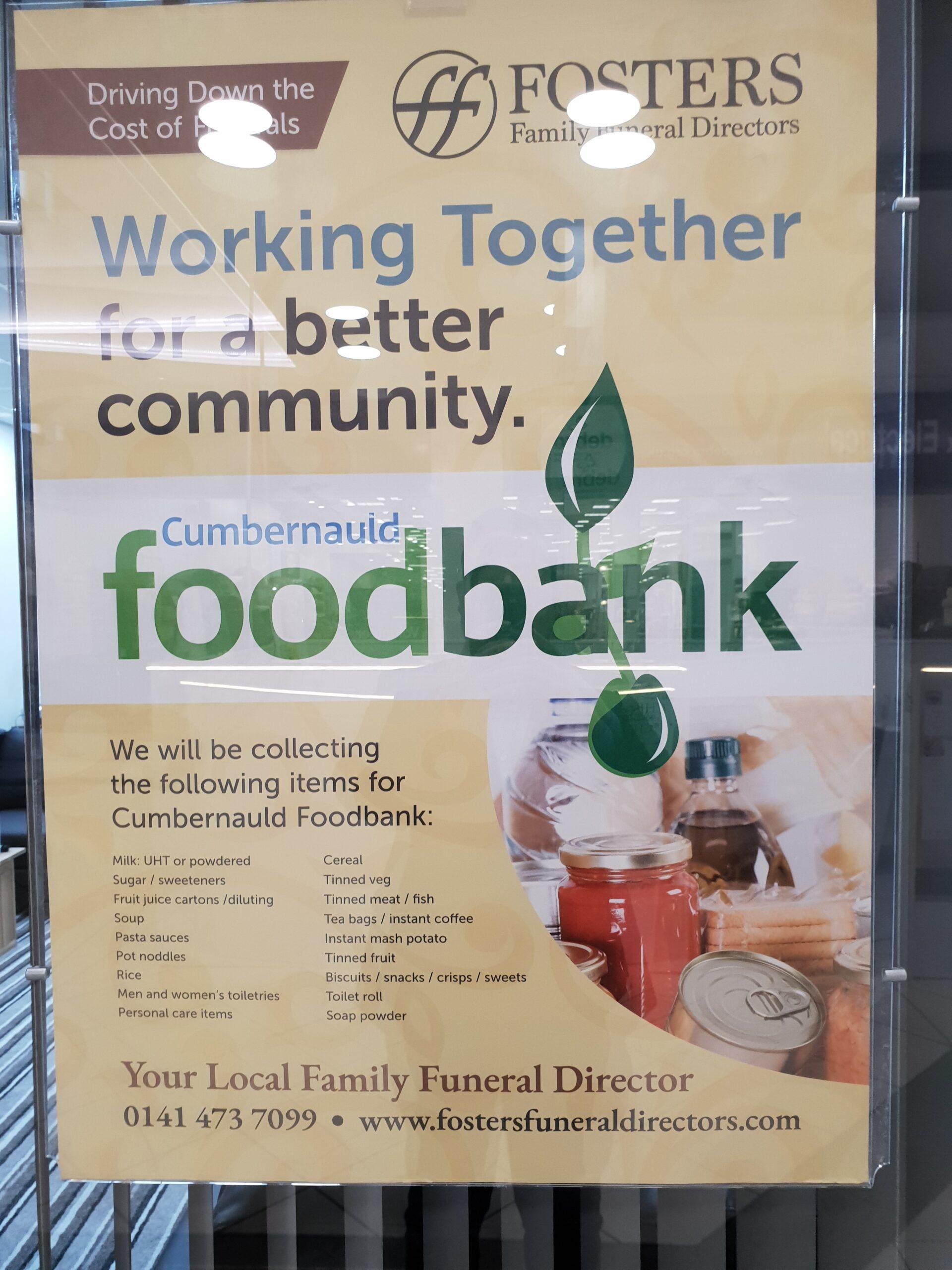 Working in partnership with Cumbernauld Foodbank