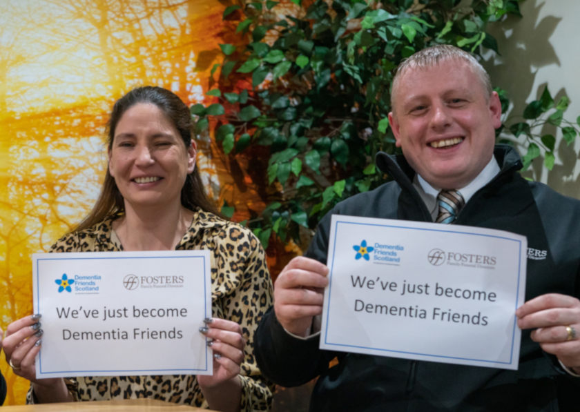 Fosters Dementia Friendly Trained