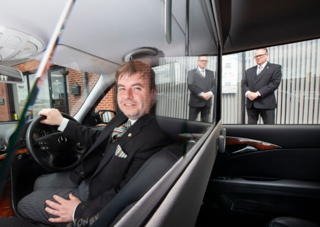 Family limousines with protective screens for covid 19