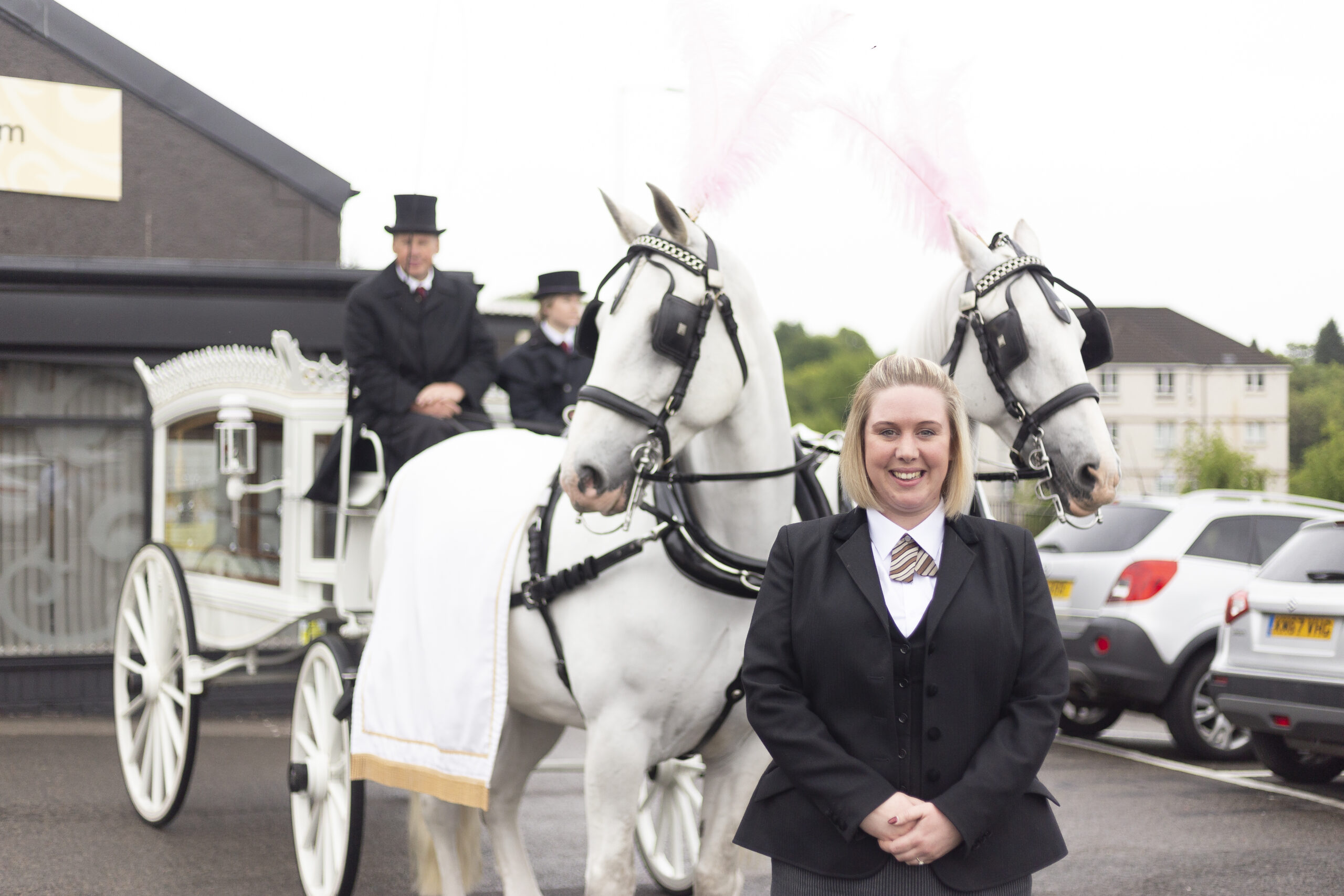 Fosters Clydebank Horse pulled hearse
