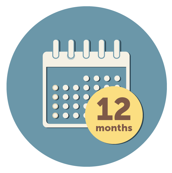 12 monthly payments icon - Funeral Plans