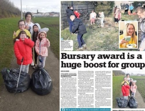 £1,000 COMMUNITY CASH BOOST FOR BURNHILL ACTION GROUP